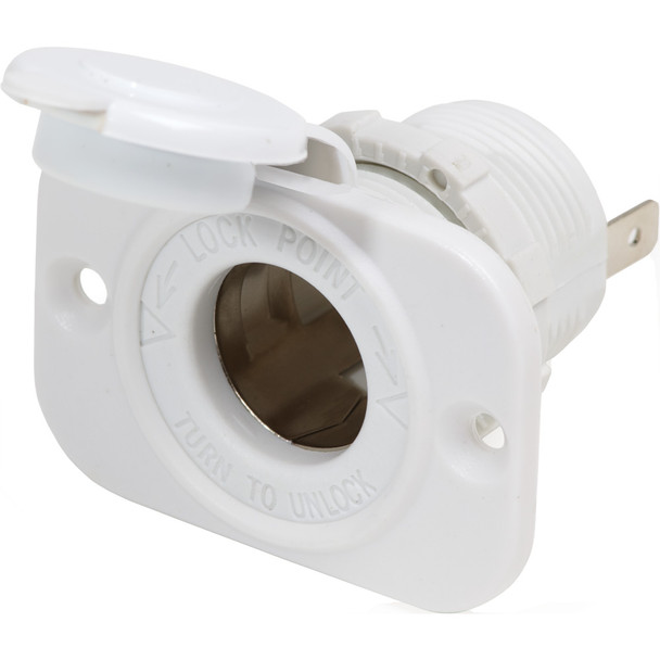 Blue Sea 12V Dash Socket - White