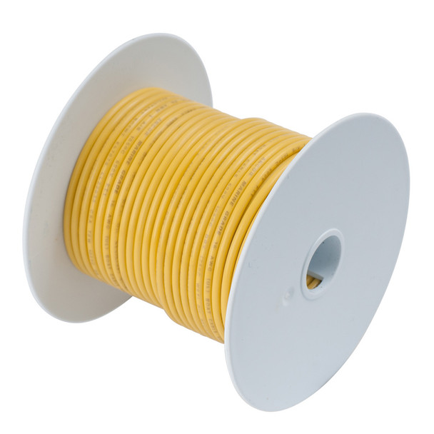 Ancor Yellow 8 AWG Tinned Copper Wire - 50'