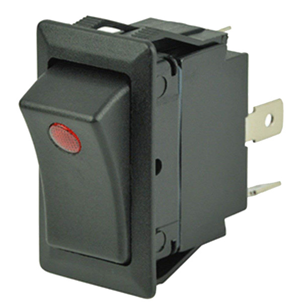 Cole Hersee Sealed Rocker Switch w/Small Round Pilot Lights SPST On-Off 3 Blade