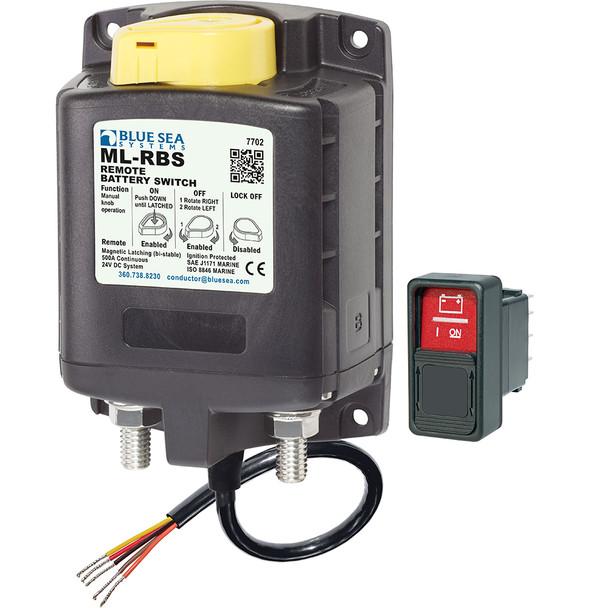 Blue Sea 7702 ML-Series Remote Battery Switch w/Manual Control 24V DC