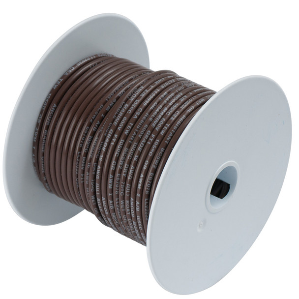 Ancor Brown 18 AWG Tinned Copper Wire - 500'