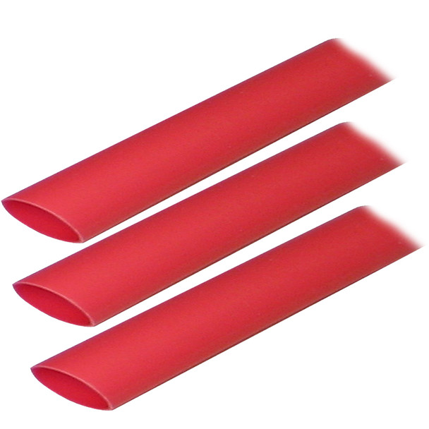 "Ancor Adhesive Lined Heat Shrink Tubing (ALT) - 3/4"" x 3"" - 3-Pack - Red"