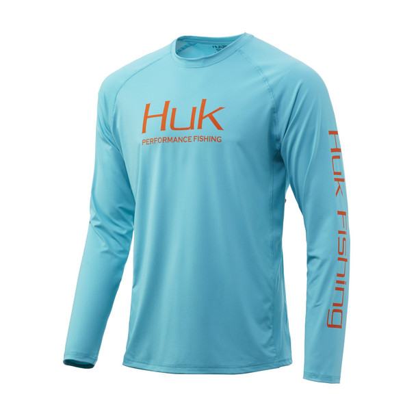 Huk Pursuit Vented Long Sleeve - Scuba Blue