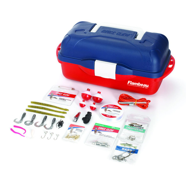 Eagle Claw GO FISH EXTREME VALUE TACKLE BOX KIT