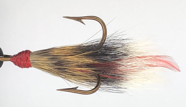 10 Flies -  Squirrel Tail Red Tag Red Head on Bronze 4 Mustad Treble Hook