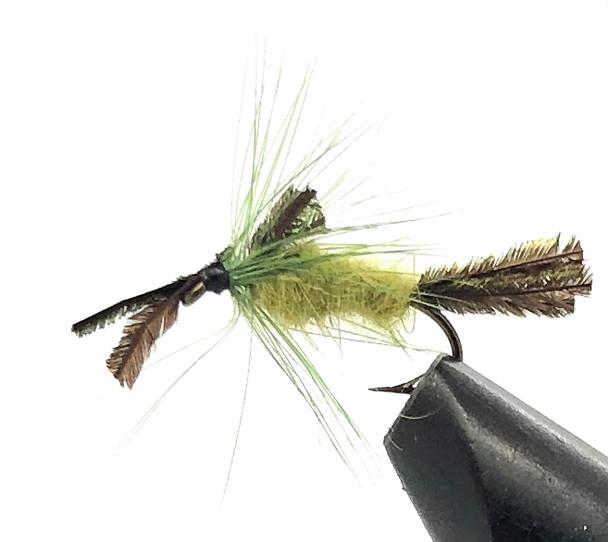 10 Flies -  Nymph Rock Worm on a Bronze 14 Mustad Hook