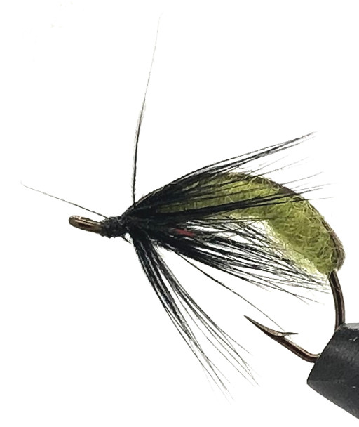 10 Flies -  Nymph Dark Hendrickson on a Bronze 8 Mustad Hook