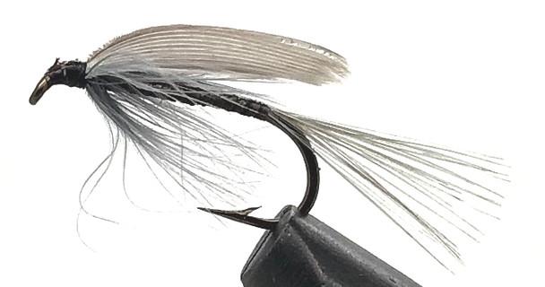 10 Flies -  Wet Blue Quill on a Bronze 8 Mustad Hook