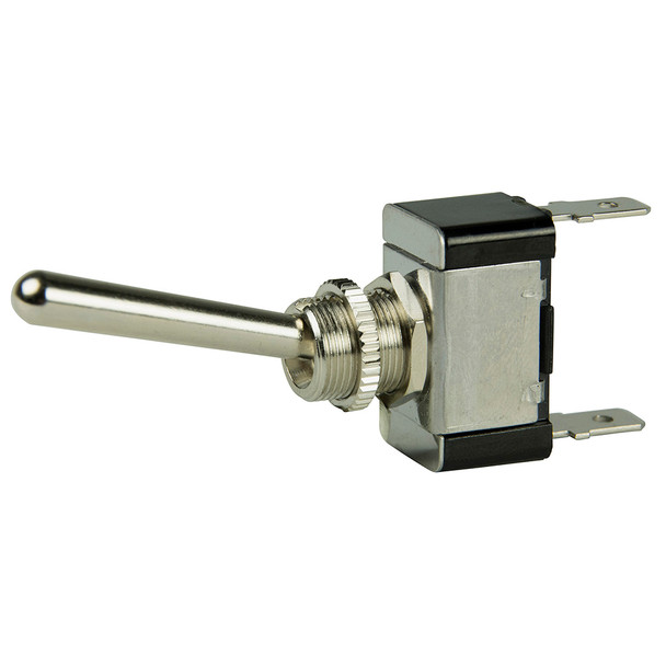 BEP SPST Chrome Plated Long Handle Toggle Switch - ON/OFF