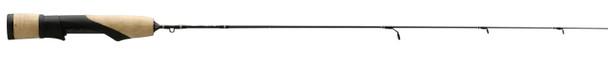 "13 Fishing - Omen Solid Carbon Blank Ice Rod Full Grip 24"" Ultra Light"