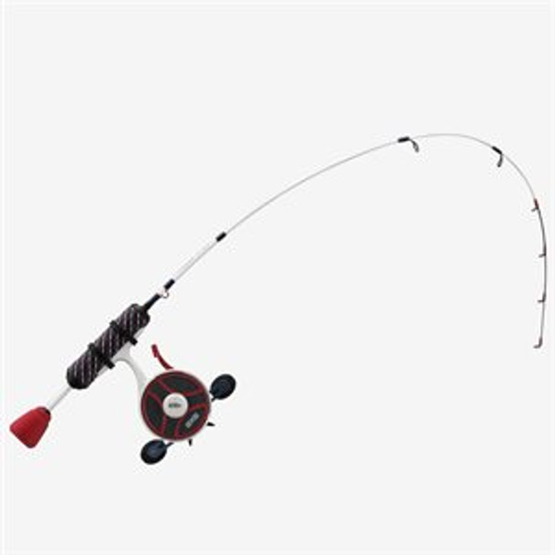"""13 Fishing - FreeFall Ghost Patriot (USA Election) Edition ICe Combo 27"""" UL - FF Ghost + Tickle Stick Tennessee Handle - LH"""