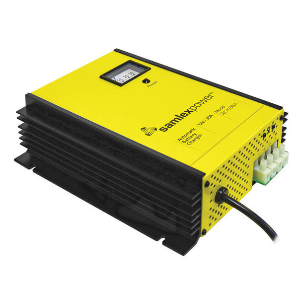 Samlex 30A Battery Charger - 12V - 3-Bank - 3-Stage w/Dip Switch & Lugs