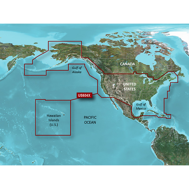 Garmin BlueChart G3 HD - HXUS604x - US All & Canadian West Coast - NEW SEALED