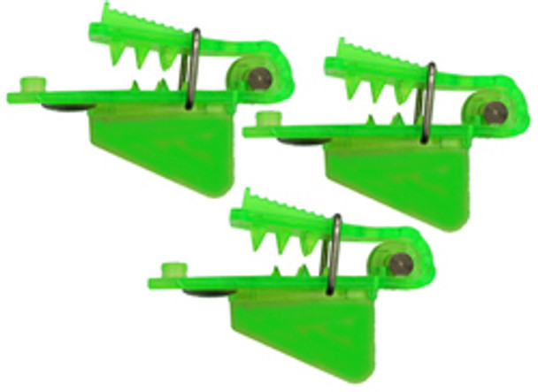 """Pro-Troll Roto Chip Head - #5b Chartreuse 3/4"""" Wide Big Fin, Pack Of 3, With Echip - Unrigged"""