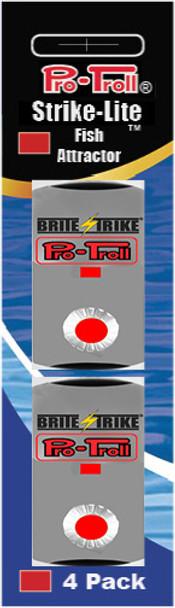 Pro-Troll Strike-Lite Adhesive LED Lights (Red - 4 pk)