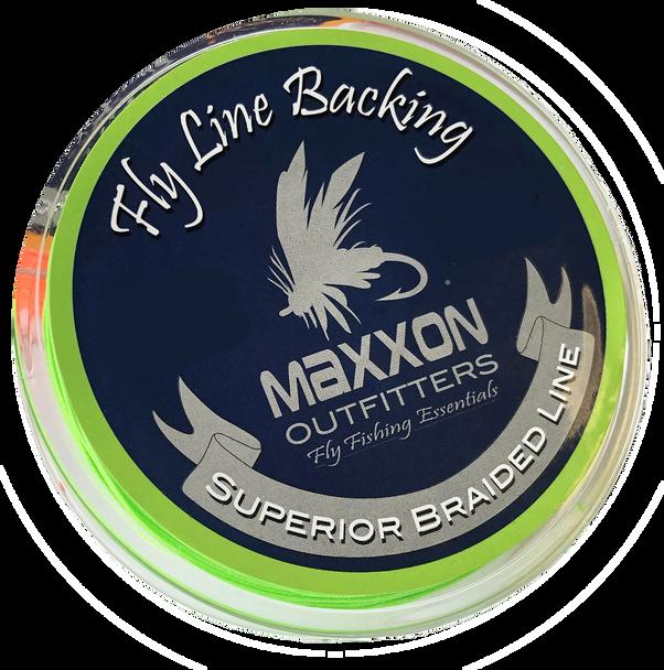 Maxxon Fly Line Backing - 20 Pound 100 Yard Lime Green Braid