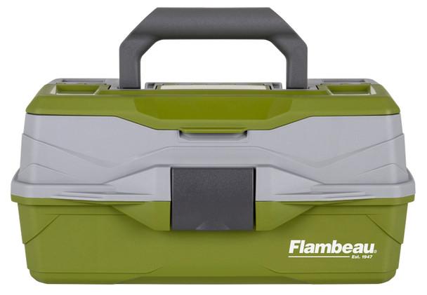 Flambeau 1 Tray Tackle Green/Gray Hard Tackle Box