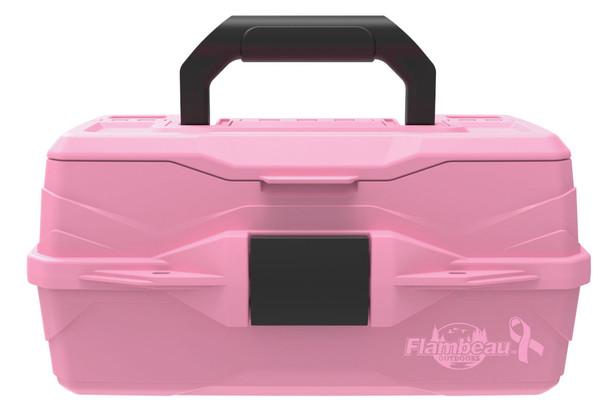 Flambeau 1 Tray-Pink Ribbon Hard Tackle Box