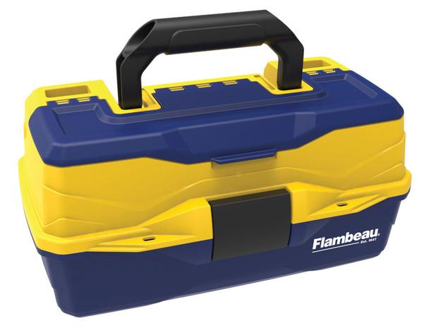 Flambeau 1-Tray Adventurer Kids Box- Yellow/Blue Hard Tackle Box