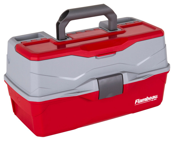 Flambeau 3 Tray Red/Gray Hard Tackle Box
