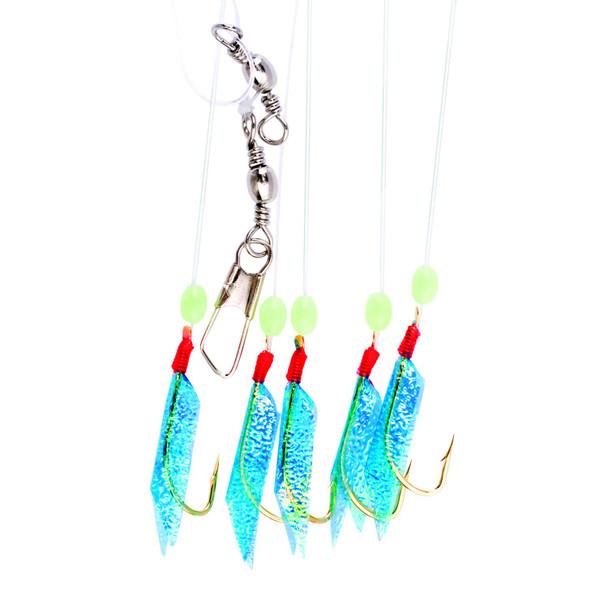 Eagle Claw - Herring Rig - Blue Fish Skin Bait Rig