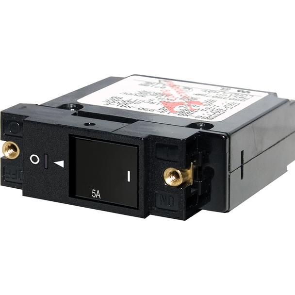 "Blue Sea 7425 Single Pole Small Case 2"" Slot Reset Rocker Circuit Breaker  -  5 Amp"