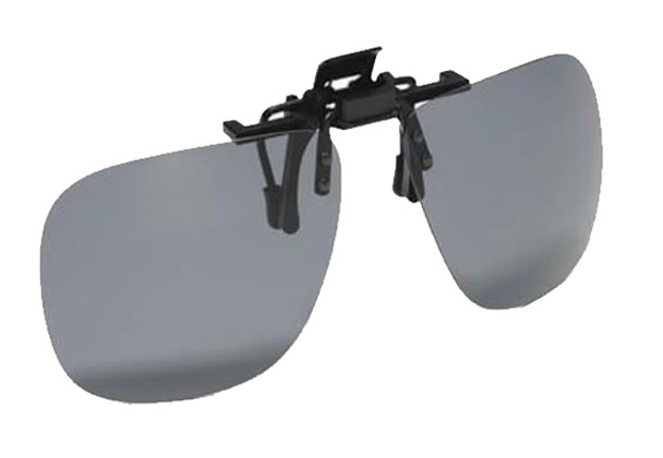 Strike King - Polarized Clip-On Sunglasses - Soft Grey Lens