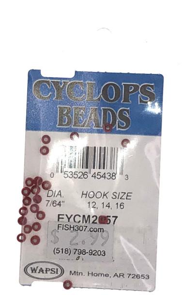 """Wapsi Cyclops Beads - 24 per pack - Red 7/64"""""""