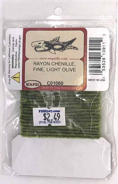 Wapsi Rayon Chenille Fine - Light Olive