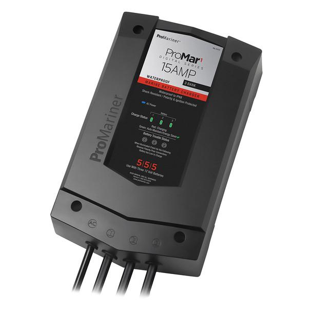 ProMariner ProMar1 DS Digital - 15 Amp - 3 Bank Charger