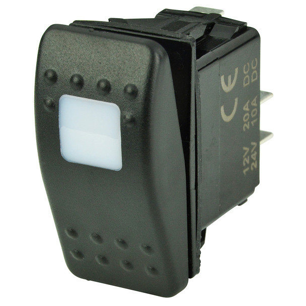 BEP SPST Contura Switch - 1-Amber LED - OFF/ON