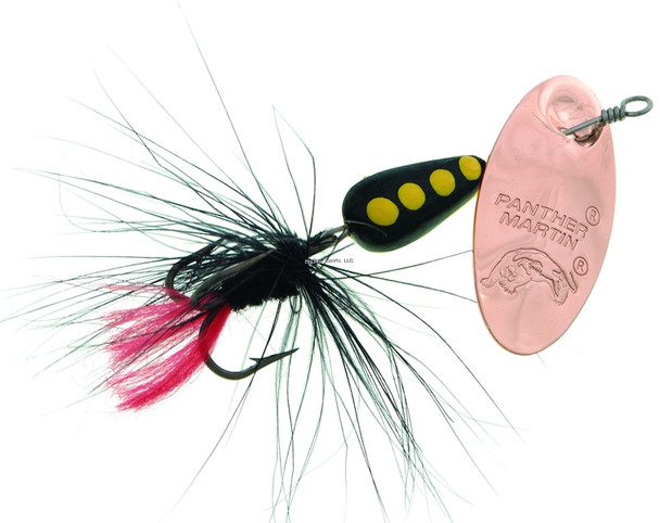 Panther Martin 2PMRF-CBBK Classic Patterns In-Line Spinner, #2, 1/16 oz, Regular Fly Copper/Black/Black