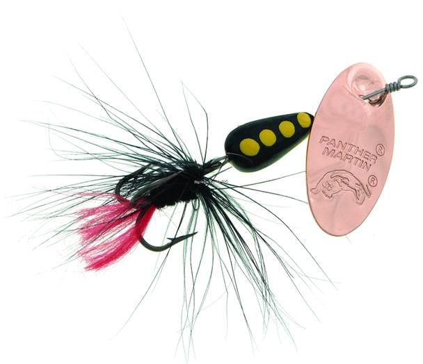 Panther Martin 6PMRF-CBBK Classic Patterns In-Line Spinner, #6, 1/4 oz, Regular Fly Copper/Black/Black