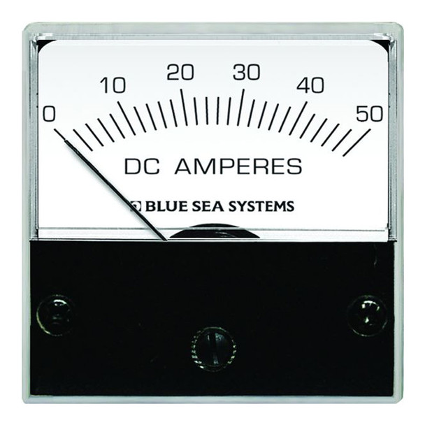 """Blue Sea 8041 DC Analog Micro Ammeter - 2"""" Face, 0-50 Amperes DC"""