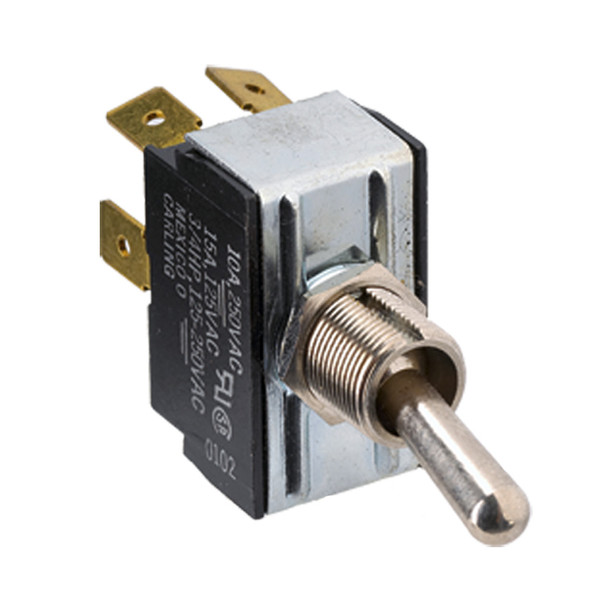 Paneltronics DPDT (ON)/OFF/(ON) Metal Bat Toggle Switch - Momentary Configuration