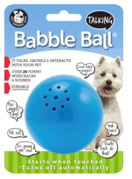 Medium Pet Qwerks Babble E Talking Ball