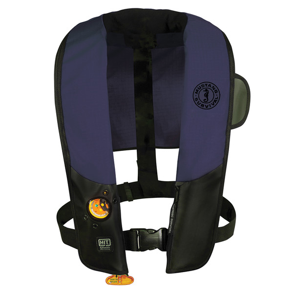 Mustang HIT Automatic Inflatable PFD - Law Enforcement Edition w/Customizable Back Flap  - Navy/Black