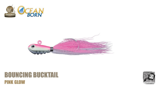 Band of Anglers OCEAN BORN™ - Bouncing Bucktail - Pink Glow