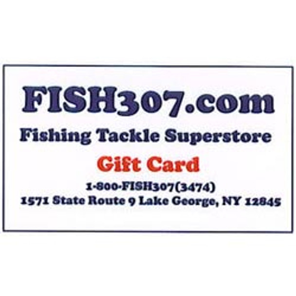 FISH307.com In Store Gift Cards