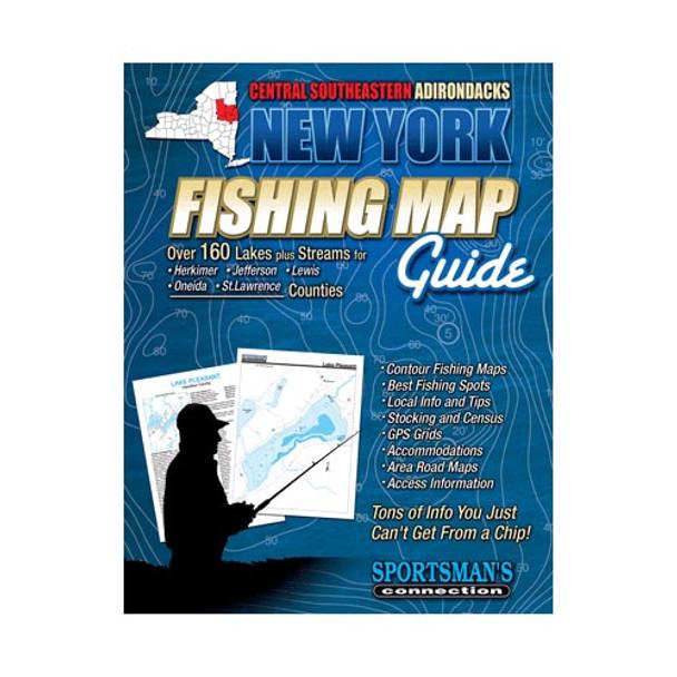 New York Central Southeastern Adirondacks Fishing Map Guide