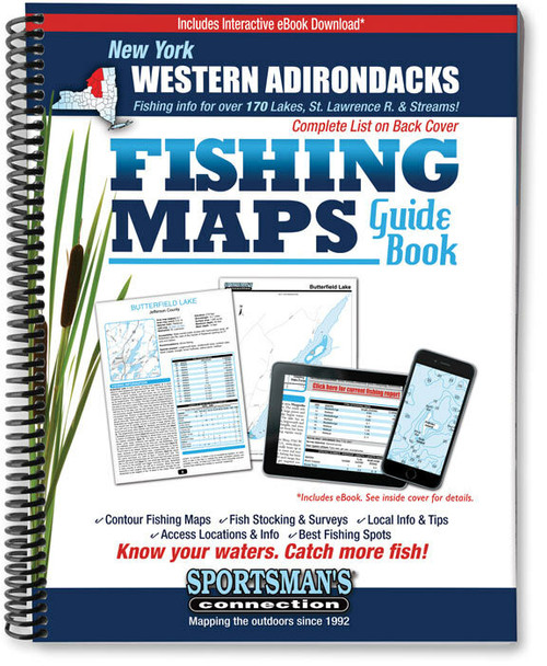 Sportsman's Connection Western Adirondacks New York Fishing Map Guide - Print Edition