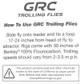 "GRC Trolling Flies - 4"" Green Gobler"
