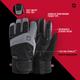 Striker Ice - Apex Gloves - Black / Gray