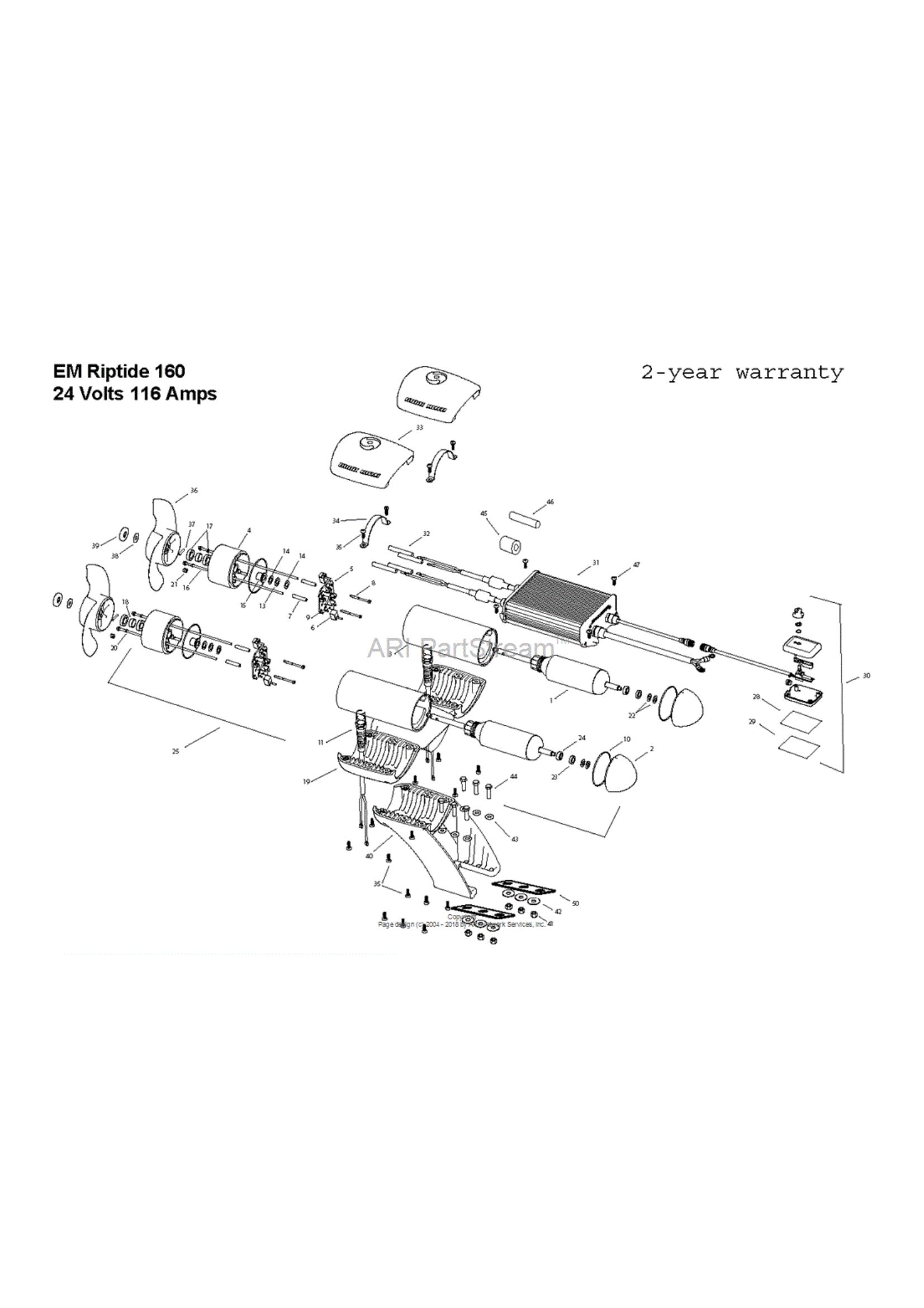 Minn Kota Engine Mount Riptide 160 Parts - 2015 from FISH307 com