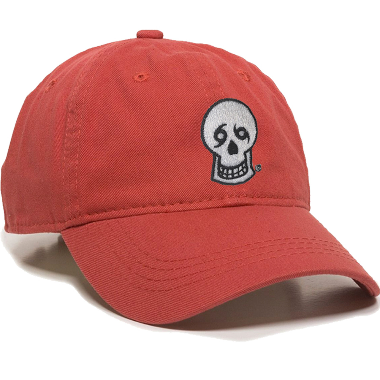 d90354c6a2f533 Skull Dad Hat (nantucket red) - NOLA Til Ya Die