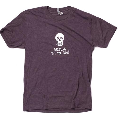 NOLA Til Ya Die Logo Unisex Tee (dark purple)