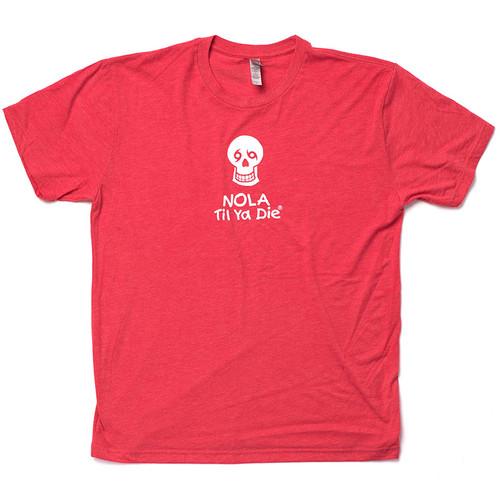 NOLA Til Ya Die Logo Unisex Tee (red)
