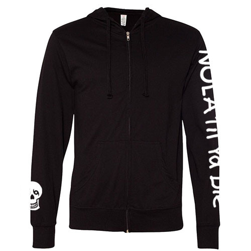 NOLA Til Ya Die Lightweight Zip Hoodie (black)