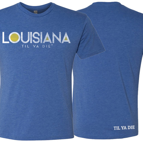 LOUISIANA Til Ya Die Unisex Tee (royal)