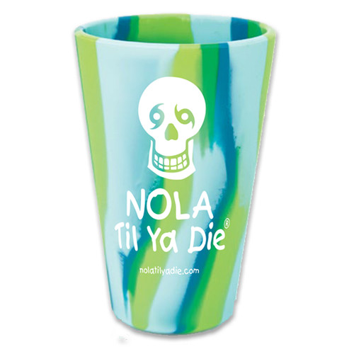 NOLA Til Ya Die Logo Pint Glass (sea swirl)